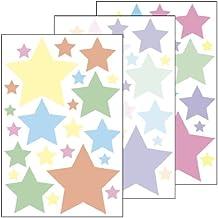 """Adhesivo decorativo """" estrellas 5,08 cm - 69 pegatinas en 3 hojas DIN A4 - adhesivo decorativo/pared adhesivo/adhesivo para decorativo/sala de estar/Dormitorio/Baybzimmer/cuarto de baño o como regalo"""