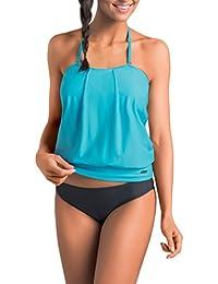 Gwinner Damen Badeoutfit Badeanzug Tankini zweiteilig aus hochwertigem Stretch-Material made in EU, widerstandsfähig gegen Chlor und UV Livia