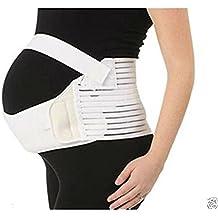 Ewin24 1pcs Blanca Maternidad Band vientre Cuna Volver Abdomen Apoyo Cinturón Prenatal