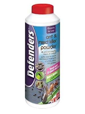 Defenders Ant and Insect Killer Powder (Treatment to Control Bugs (Ants, Cockroaches, Earwigs and Woodlice) in Homes, Patios and Gardens, Treats up to 25 sq m), 450 g
