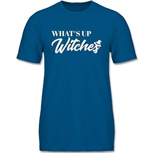 Anlässe Kinder - Whats up Witches - 110-116 (5-6 Jahre) - Royalblau - F140K - Jungen T-Shirt