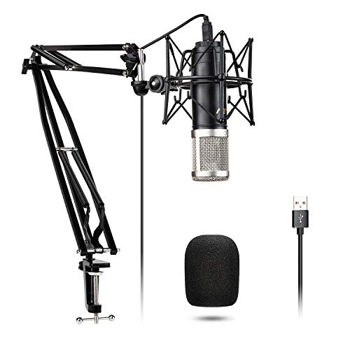 USB Mikrofon Kit Kondensatormikrofon VeGue028 192kHz / 24Bit Plug & Play mit professionellem Soundchip für Podcast, Spiel, YouTube, Aufnahme, PC Karaoke, Voice Over