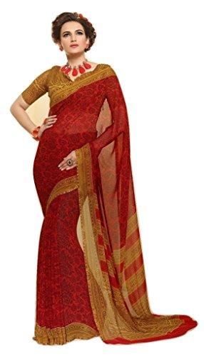 Jay Sares Elegent Designer Saree with abstract and floral prints - Jcsari3009d408a