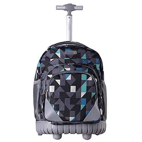 XHHWZB Rollender Rucksack Handgepäck Koffer 19 Zoll für Laptops 17-Zoll mit Regenschutz, Schwarz (4 Räder) (Farbe : C)