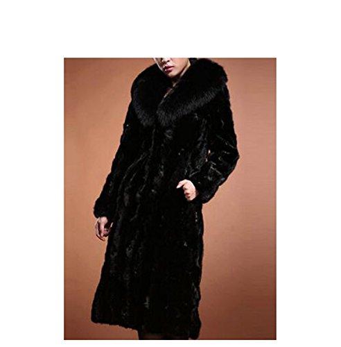 Huaishu Femmes Fourrure Long Manteau Solide Mode Mince Simple Fausse Fourrure Veste Survêtement À Manches Longues Hiver Pardessus Automne