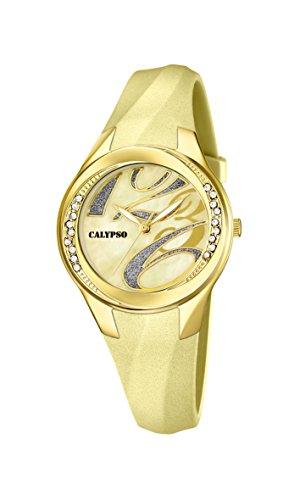 Calypso  watches K5598/9 – Reloj de pulsera mujer, plástico, color dorado