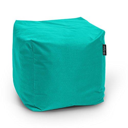 BuBiBag Würfel Sitzsack Polyester türkis 45x45x45 cm