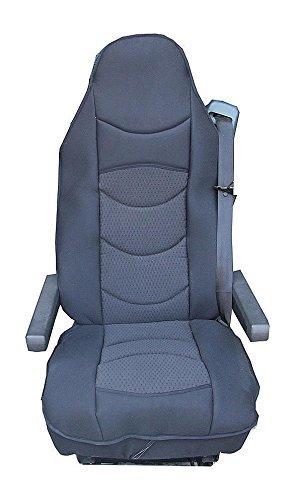 Preisvergleich Produktbild 1x LKW Sitzauflage Sitzbezug Schwarz Sitzschoner LKW-Sitz Neu OVP Hochwertig
