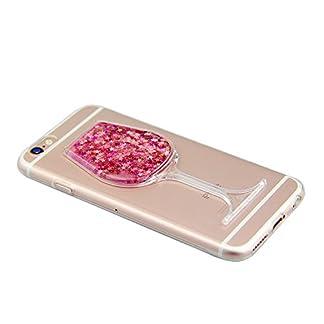 IKALITE-Bling-Glitter-Soft-Klar-Transparent-Flssige-Hlle-fr-iPhone-8-iPhone-7