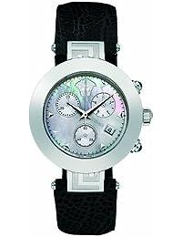 Versace REVE XLC99D001S009 - Reloj de caballero de cuarzo con correa de piel negra
