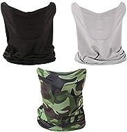 3 PCS Neck Gaiter Fishing Mask Bandana Sun Wind Dust Protection UV Headwear Balaclava Magic Scarf for Men Wome