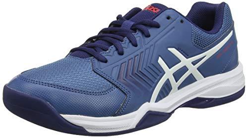 ASICS Herren Gel-Dedicate 5 Indoor Tennisschuhe, Blau (Azure/White 400), 40 EU