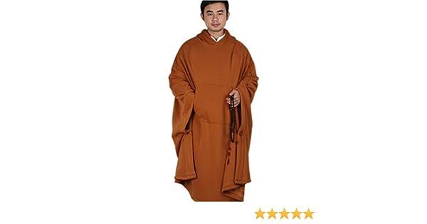 KATUO Meditation buddhistische Kapuzen Umhang Damen Herren Outfit Oversize Coat