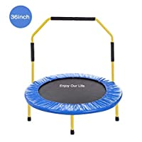 YOLEO Multiple Size and Color Mini Trampoline/Fitness Rebounder for Adult and Kids Ideal for Indoor or Outdoor - 36/38/43 Inch Available, 100KG Max