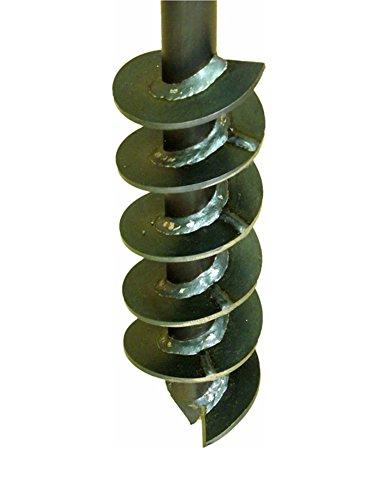 Erdbohrer Erdlochbohrer Brunnenbohrer Pfahlbohrer Handerdbohrer 90 mm Bohrkopf Bohrgerät f. Brunnen und Rammfilter