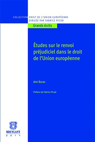 Études sur le renvoi préjudiciel dans le droit de l'Union européenne