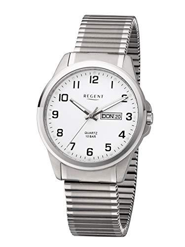 Regent Herren Analog Quarz Uhr mit Titan Armband 11090334