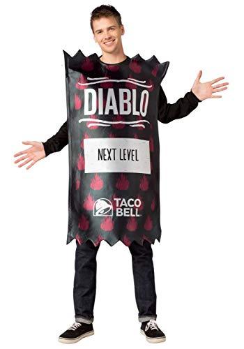 Morris Costumes Taco Bell Adult Diablo Taco Bell Sauce Packet Costu - Taco Sauce Kostüm