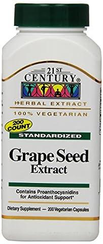 21st Century Health Care, Traubenkern-Extrakt - x200Vcaps - Grape Seed Extract