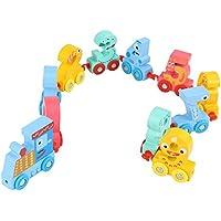 Spielzeug Bunte Digitaler Zug des hölzernen Kinderspielzeugs Pädagogisches Holzspielzeug