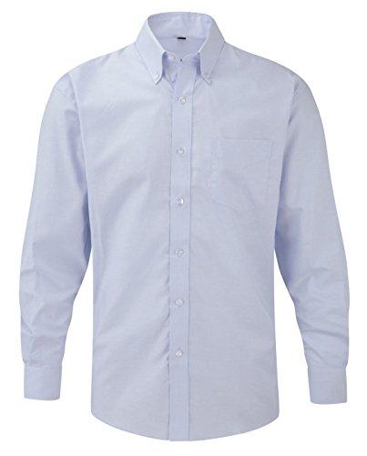 Russell Collection à manches longues pour homme Entretien facile-Oxford Bleu - Bleu Oxford