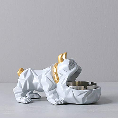 ZXJshyp Glücklicher Hund Aschenbecher Kreative Wohnzimmer Dekorationen Multifunktions Haushalt Aschenbecher Mode Urlaub Geschenk - die besten Benutzer (Farbe : Gray) -