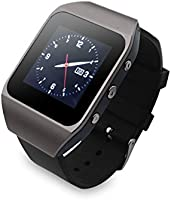 AGPTek 8 Go Écran tactile Mp3 Player Watch avec la Fonction Bluetooth(Gris)