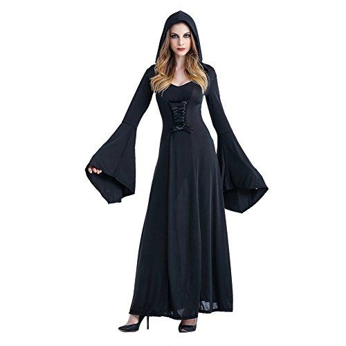 Arwen Kostüm Königin - Vampir Kostüm Gothic Hexe Mittelalter Halloweenkostüm Schwarz