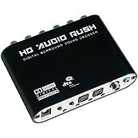 Luzan 5.1Audio Fiebre Digital Sound Decoder Convertidor óptico SPDIF coaxial Dolby AC3DTS (R/L) estéreo a 5,1ch analógico Audio (6RCA de salida)