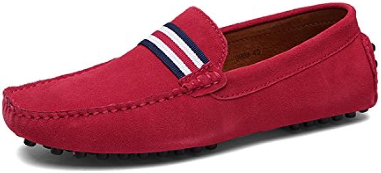 Eagsouni Herren Mokassins Bootsschuhe Wildleder Loafers Schuhe Flache Fahren Halbschuhe Beilaumlufig Slippers Hausschuh