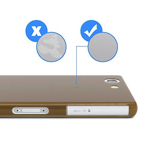 """EAZY CASE Handyhülle für Sony Xperia Z3 Compact Hülle - Premium Handy Schutzhülle Slimcover """"Clear"""" hochwertig und kratzfest - Transparentes Silikon Backcover in Klar / Durchsichtig Clear Braun"""