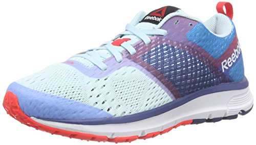 Reebok One Distance, Chaussures de course femme Multicolore - Mehrfarbig (Cool Breeze/Conrad Blue/Batik Blue/Neon Cherry)
