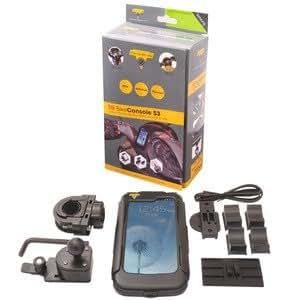 Tecnoglobe - Support moto Galaxy S3 scooter, TG Bike Console V2, étanche anti-choc