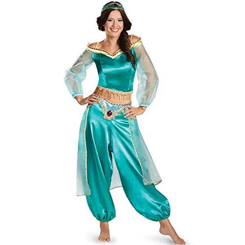Kostüm Women's Jasmin - YUXINXIN M-xl halloween kostüm cosplay sexy aladdin magic lampe jasmin prinzessin dress (Color : Multi-colored, Size : L)