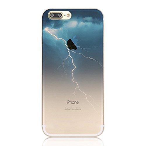 Coque iPhone 8 Plus Silicone TPU Coque de Protection pour iPhone 8 Plus Paysage Créatif Souple Motif Landscape Etui Housse de Protection, Sunroyal Premium Ultra Mince Case Cover Bumper pour iPhone 8 P Paysage 16