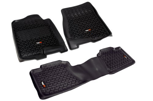 rugged-ridge-all-terrain-black-front-and-rear-floor-liner-kit-for-select-chevrolet-avalanche-silvera