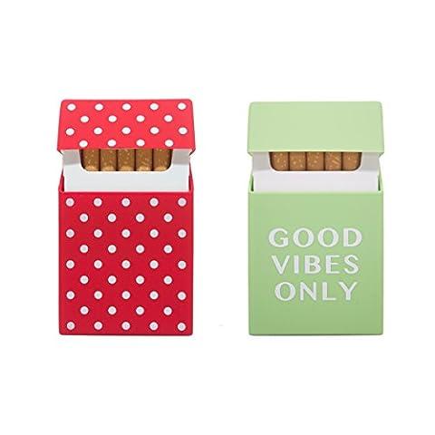 2 unités de boîtes à cigarettes, Portecigarettes, Étuis à cigarettes pour cigarettes