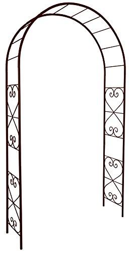 Louis-3166 arco da giardino con motivo romantico, in ferro anticato, 130 x 250 cm