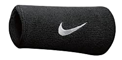 Nike Swoosh Double Wide Wristbands black / white