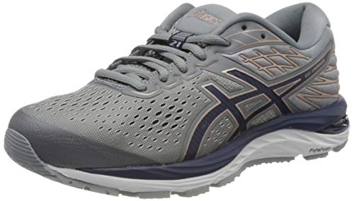 Asics Damen Gel-Cumulus 21 Running Shoe, Sheet Rock/Peacoat, 37.5 EU -