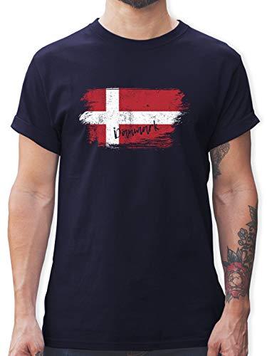 Handball WM 2019 - Dänemark Vintage - XL - Navy Blau - L190 - Tshirt Herren und Männer T-Shirts