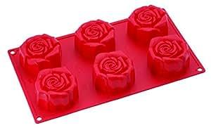Pavoni - Le moule à gâteaux 6 roses en silicone Pavoni®