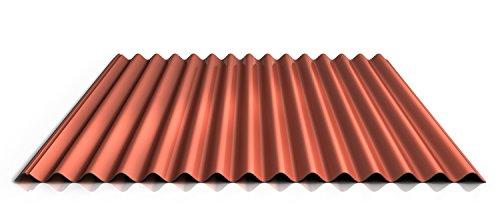 Wellblech | Profilblech | Dachblech | Profil PS18/1064CR | Material Stahl | Stärke 0,40 mm | Beschichtung 25 µm | Farbe Ziegelrot