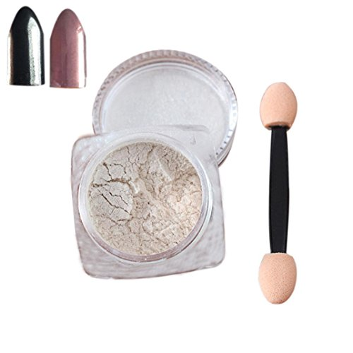 Nail Mirror Powder,Transer ® 2g / boîte Sliver Nail Glitter poudre Shinning ongles miroir maquillage Art bricolage Chrome Pigment de la poudre(Rose)