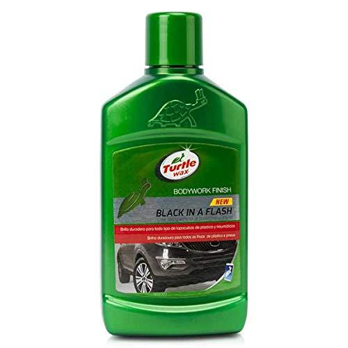 Turtle Wax 52812 Black in a Flash Autowachs-Restaurator für Kunststoff & Reifen im Außenbereich 300ml