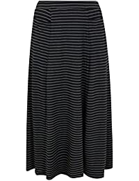 b74cdfbb8a9e Yours Clothing Women s Plus Size Stripe Maxi Skirt with Pockets