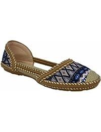 Zapatos dorados Tattopani para mujer