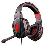 Stereo Gaming-Headset (G4000Für PS4, PC, Xbox One, Rauschreduzierung der Kopfhörer mit Mikrofon, Lichter Del, Lautsprecher Bass für Laptops-Spiele Switches Mac Nintendo