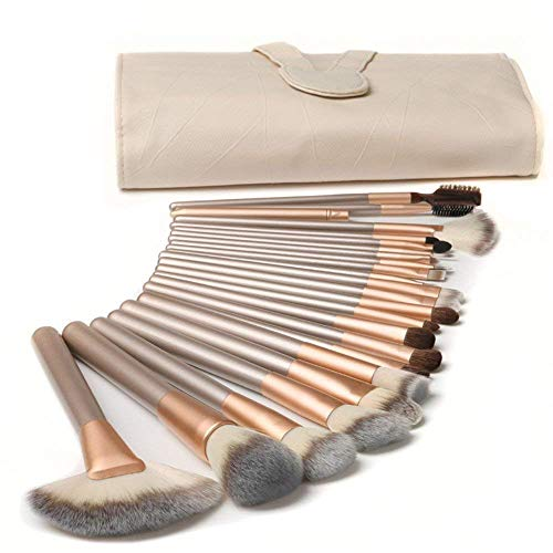 (18pc) - Make up Brushes,TTRwin 18 Pcs Professional Makeup Brush Set Synthetic Kabuki Face Blush Lip Eyeshadow Eyeliner Foundation Powder Cosmetic Brushes Kit with PU Leather Bag White