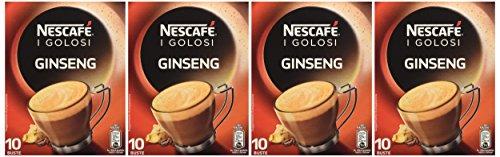comprare on line Nescafé - Caffè Golosi, Ginseng Preparato Solubile in Polvere al Caffè e Ginseng - 4 confezioni da 10 buste (10 tazze) l'una [40 buste, 40 tazze] prezzo